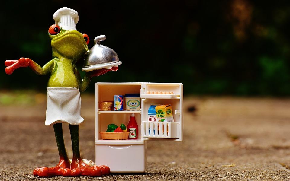 Positionnement correct d'un réfrigérateur autonome